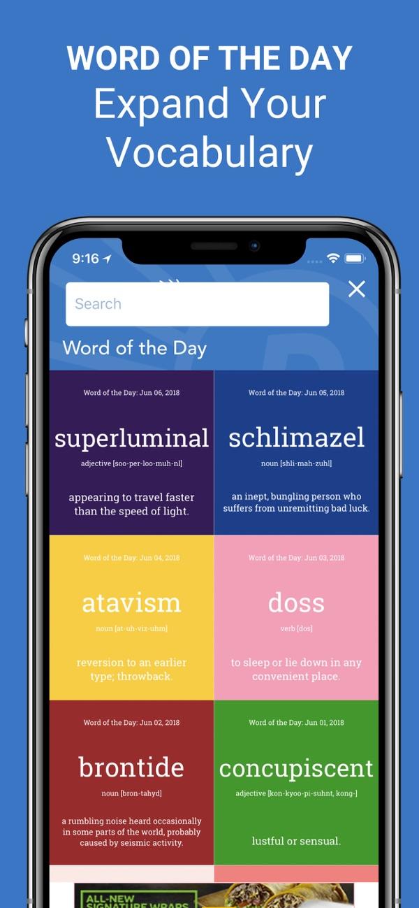 iOS ve Android için Türkçe İngilizce Sözlük Uygulaması
